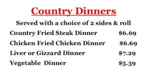 Charlie's Chicken Menu   Combo Meals   Joplin MO