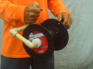 homemade polywire reel