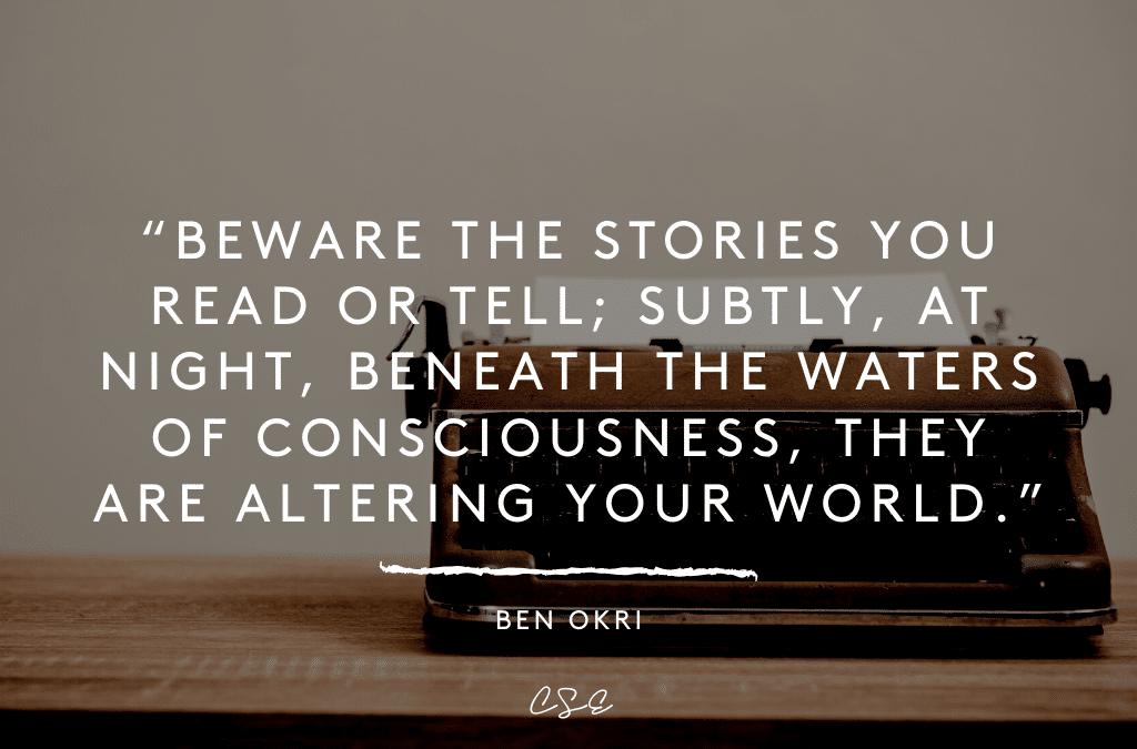 Music, Quotes & Coffee - quote by Ben Okri about the stories you tell yourself