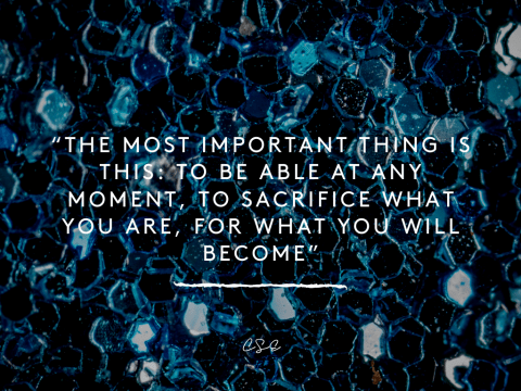 Music, Quotes & Coffee - picture about sacrifice and what you will become