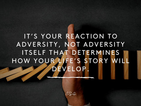 It's your reaction to adversity, not adversity itself that determines how your life's story will develop