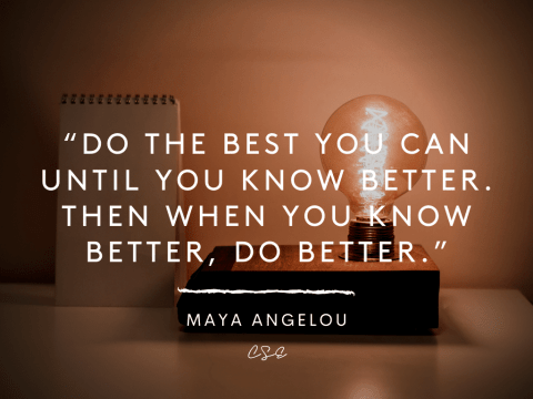 do the best - maya angelou