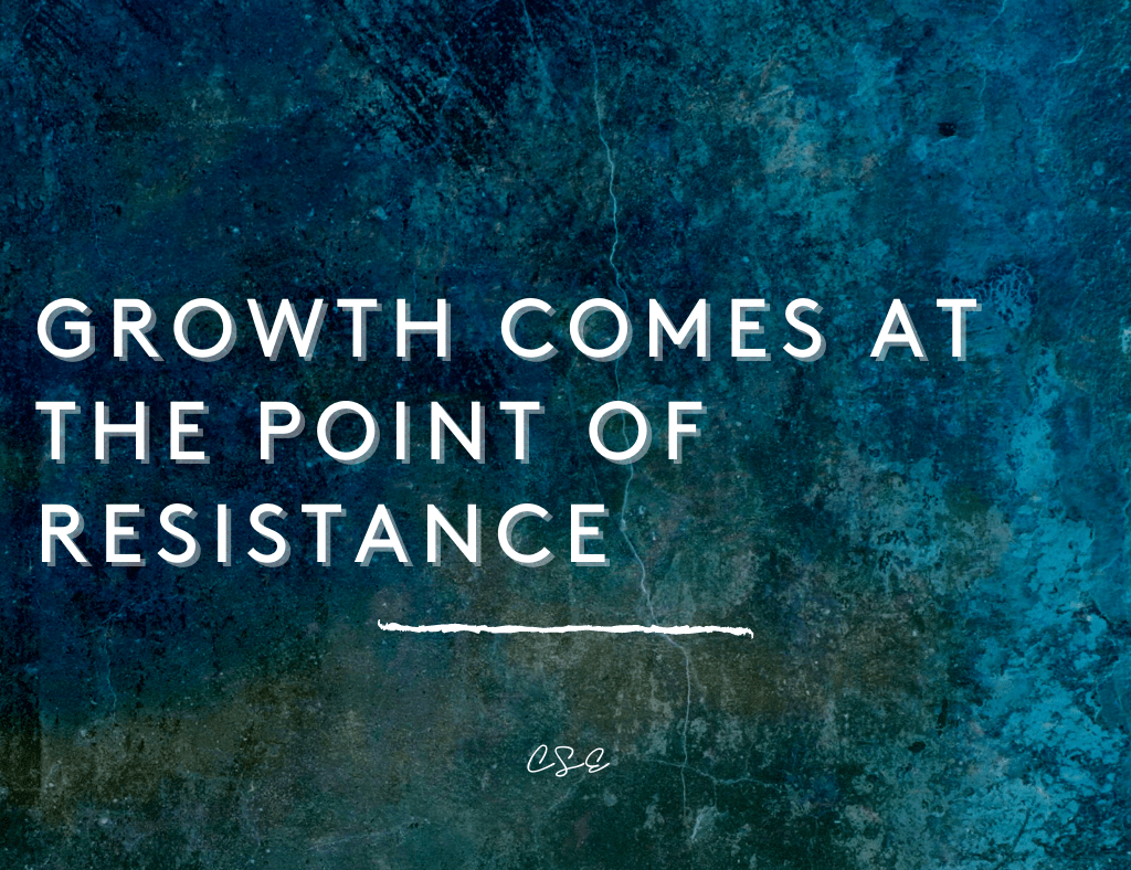 growth comes at the point