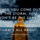 That's what this storm's all about - Murakami