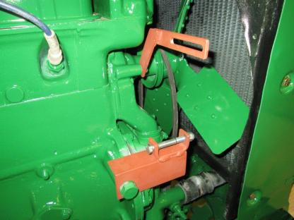 Delco mounting bracket on Oliver 88