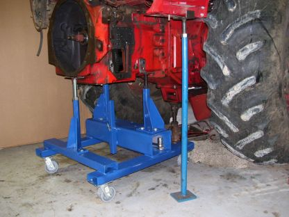 TA housing is attached with just two bolts to the TA Handler and can be safely be rolled away from the rear Transmission/Differential housing