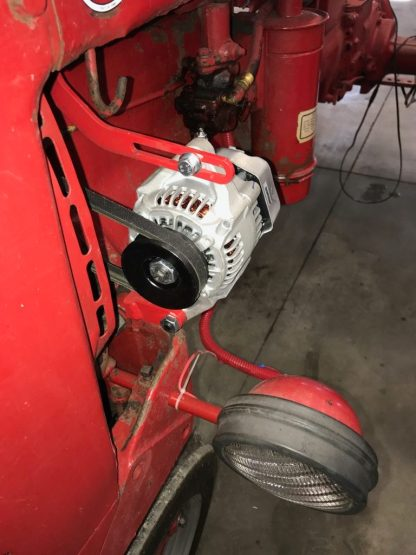 The Denso alternator fits and looks nice on these smaller tractors.