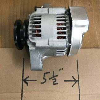 The Denso alternator is 5 1/2 inches in length.
