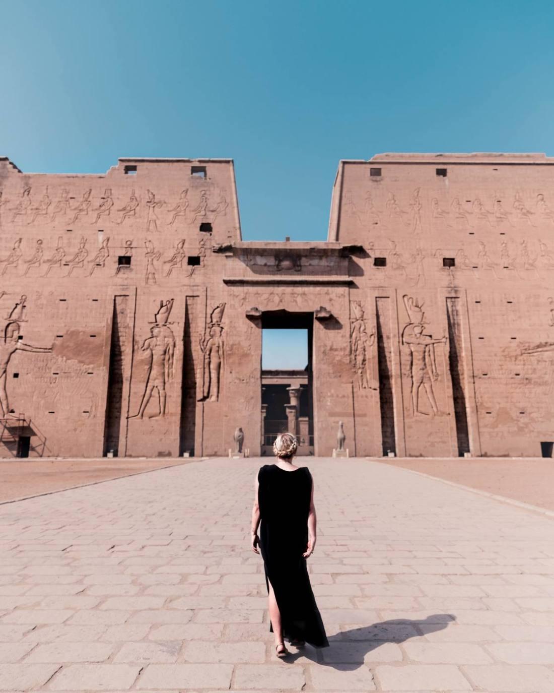 temple of Horus in Edfu in Egypt
