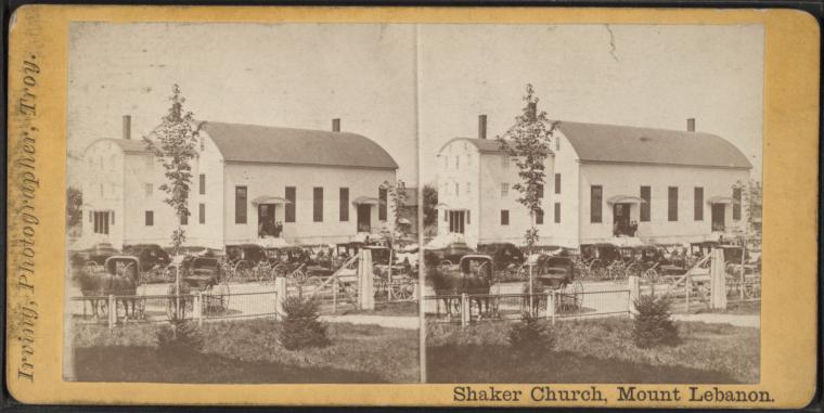 Kościół jednej z utopijnych gmin. Religijnej wspólnoty tzw. shakers