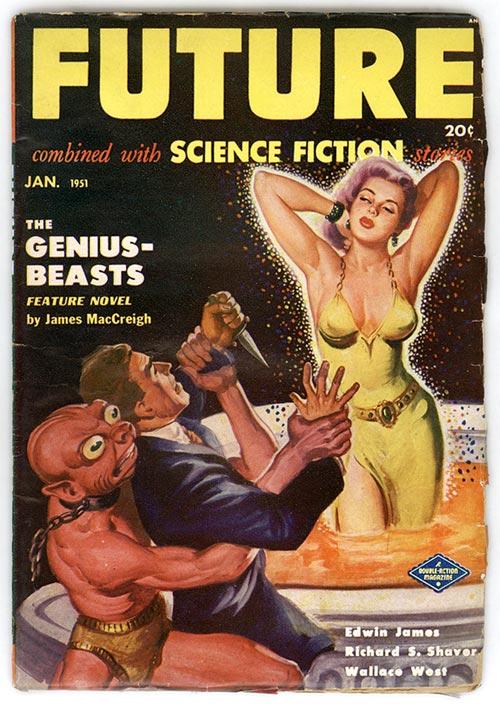 Źródło: http://crackhouseblues.tumblr.com/ Okładka jednego z popularnych w tamtym czasie czasopism pulpowych