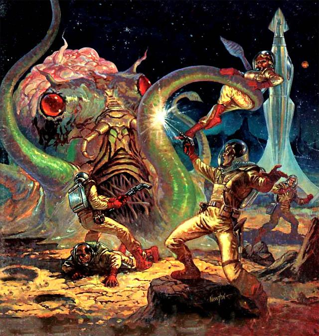 Krwiożercza ośmiornica z Plutona dobierze się Wam do tyłków! Źródło: http://www.darkroastedblend.com/2008/10/grand-old-times-in-future.html