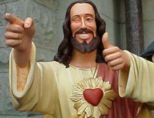 Nie mogłem się powstrzymać od wrzucenia Jezusa Ziomeczka (moja inwencja tłumaczeniowa Buddy Christ)