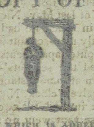 Poniższy skan nie ma nic wspólnego z przytoczonym wyżej fragmentem. Rycina pochodzi z książki, która jest zapisem procesu i ostatnich słów mordercy. Rok 1813.