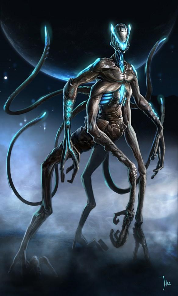 Łobcy. Może tak wyglądają wrogowie ludzkości? Źródło: http://leejj.deviantart.com/art/Alien-Concept-279138936