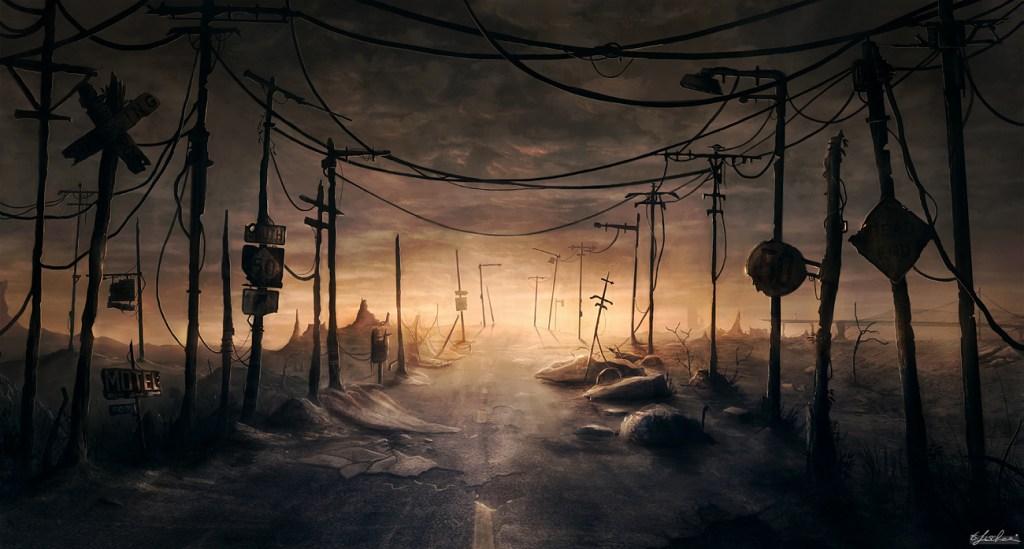 Ilustracja utrzymana w klimatach postapokaliptycznych. Źródło: http://digital-art-gallery.com/picture/gallery/post_apocalyptic