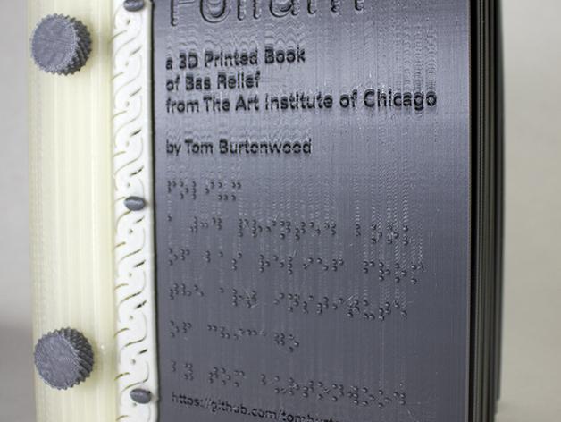 Tak wygląda okładka. Książka została również wydrukowana w alfabecie braille'a . Źródło: http://www.thingiverse.com/thing:463657
