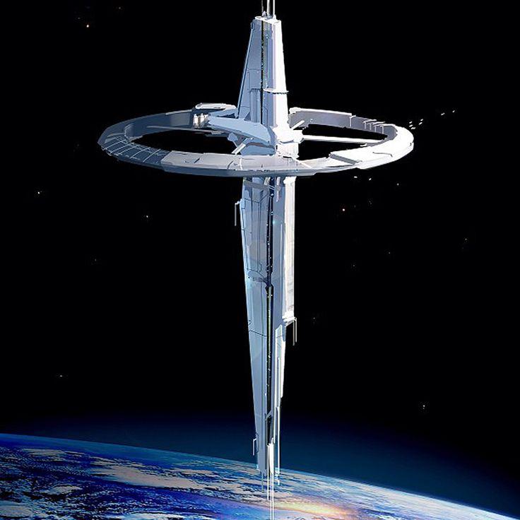 Wizja stacji kosmicznej. Źródło: pinterest.com
