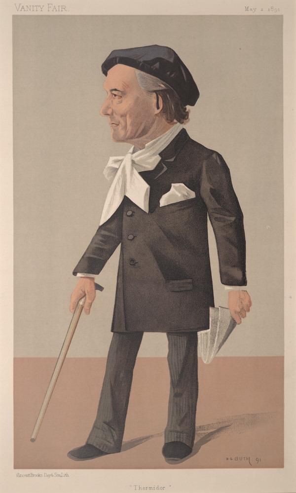 "Karykatura Victoriena Sardou z ""Vanity Fair"". Źródło: http://pl.wikipedia.org/wiki/Victorien_Sardou#/media/File:Victorien_Sardou,_Vanity_Fair,_1891-05-02.jpg"