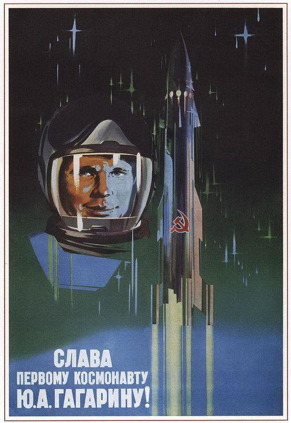 Sława sowieckim kosmonautom. Źródło: https://www.pinterest.com/pin/504684701966478349/