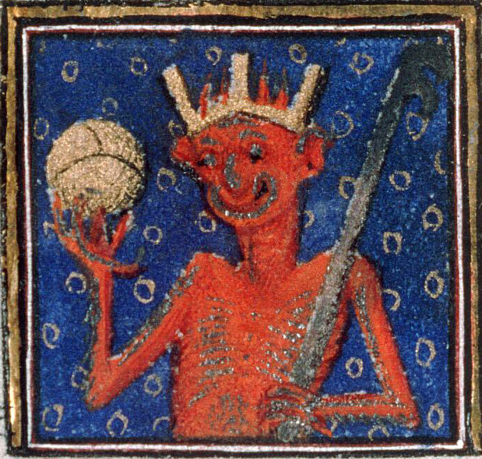 Diabelski król. Źródło: http://discardingimages.tumblr.com/post/102627935733/devil-changed-his-profile-picture-breviary-of
