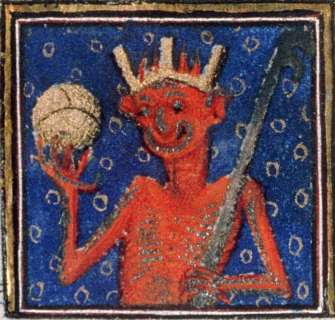 Diabelski król. Źródło: http://discardingimages.tumblr.com/post/102627935733/devil-changed-his-profile-picture-breviary-of