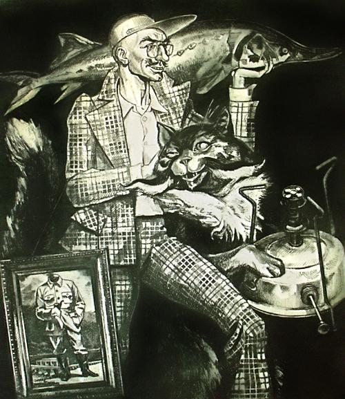 "A to chyba ilustracja do ""Mistrza i Małgorzaty"". Źródło: http://russiapedia.rt.com/prominent-russians/literature/mikhail-bulgakov/"