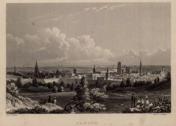 Taka panorama Gdańska. Źródło Polona.pl