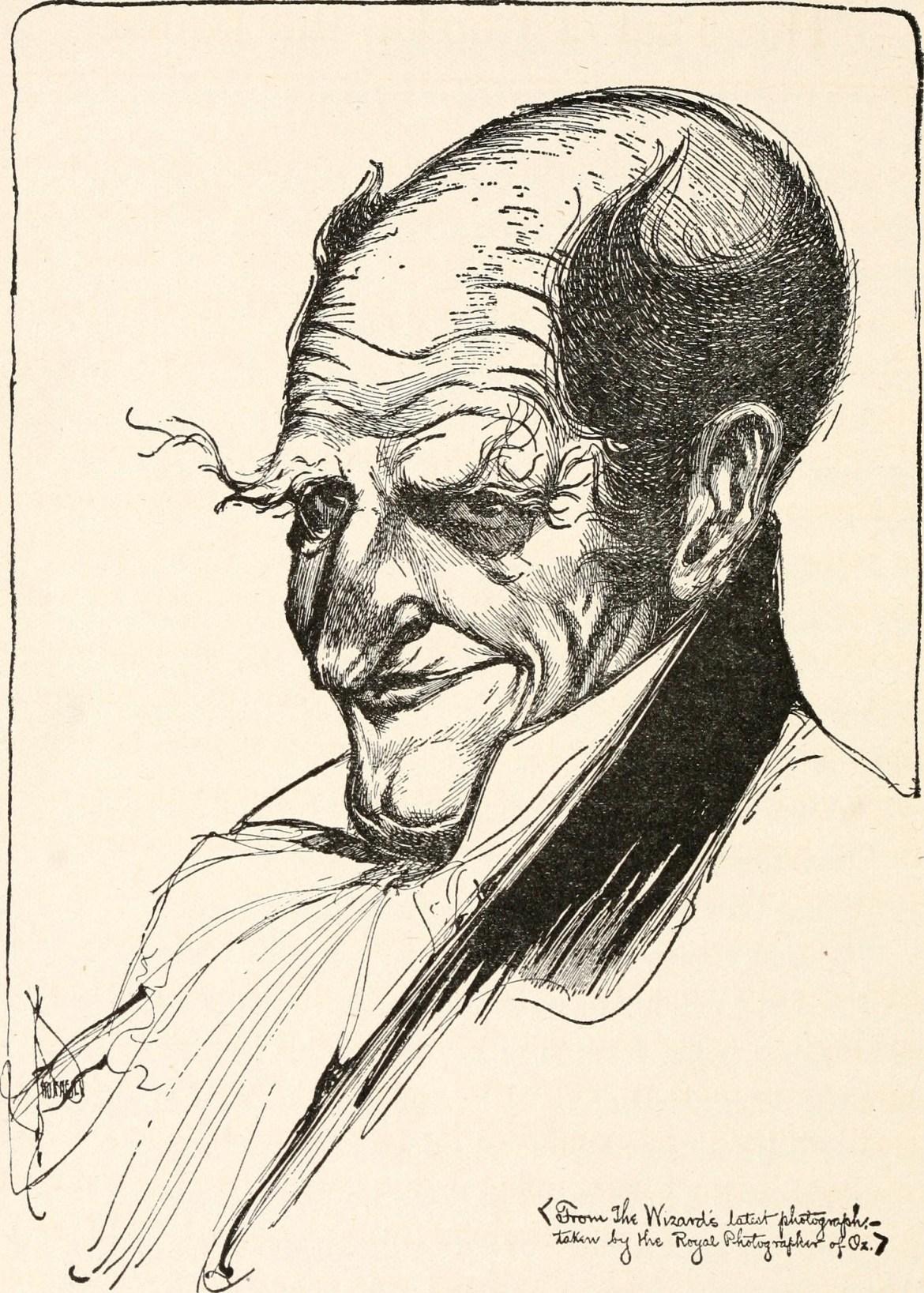 """A tu taki rysunek diaboła chyba, albo złego czarnoksiężnika, też z """"Czarnoksiężnika z krainy Oz"""". Źródło: https://flic.kr/p/orDt8U"""
