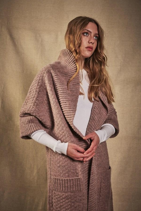 Charl Knitwear Rook shawl collared cardigan