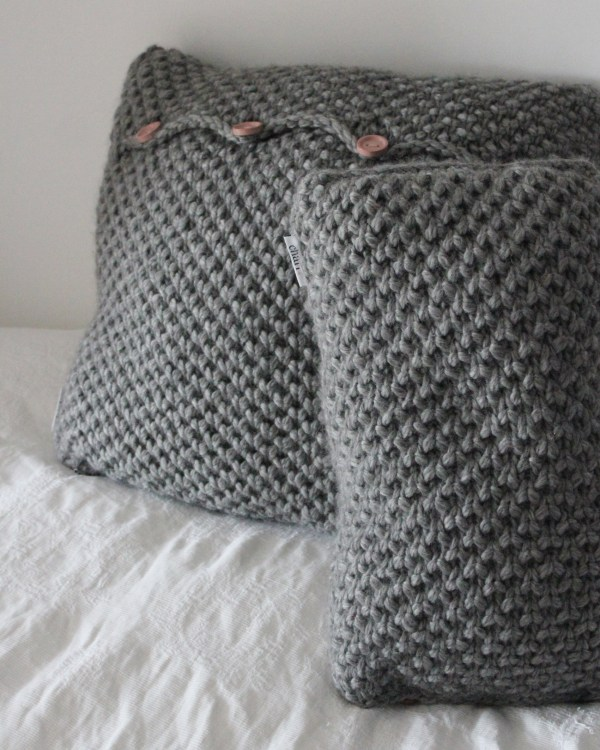 Charl Knitwear Hand knitted cushions
