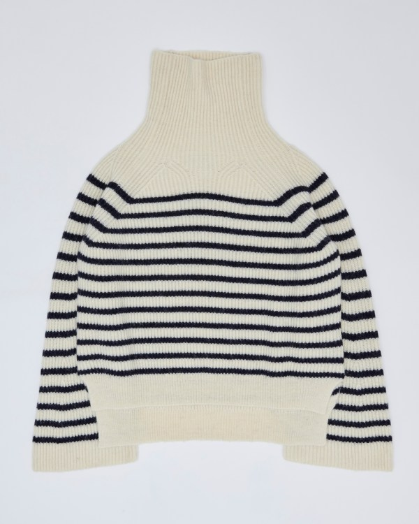 Chibbles nautical stripe knitted in 100% British wool