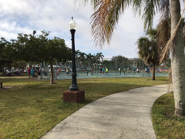 Pickle Ball courts at Gilcrest Park