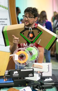 3D printing demo at 2016 Charlotte Mini Maker Faire
