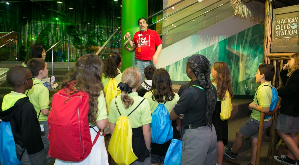 live animal encounter at Discovery Place Science