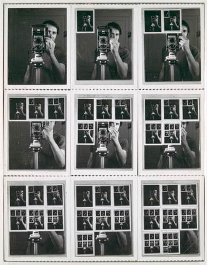 william-anastasi-nine-polaroid-portraits-of-a-mirror-contextual