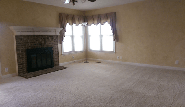 family room before paint