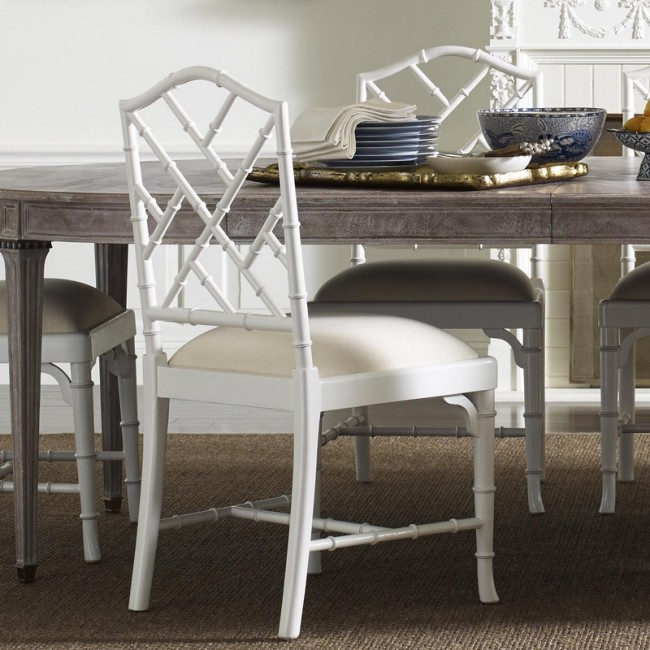 Charlotte Chinese Chippendale Dining Chairs White