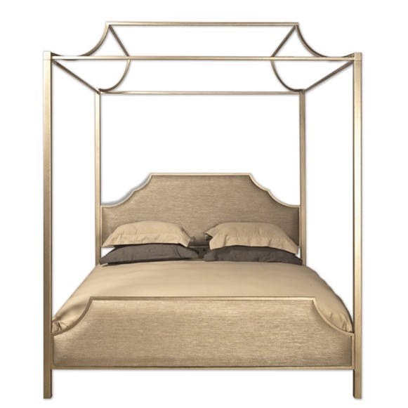 Westwood Gold Upholstered Canopy Bed