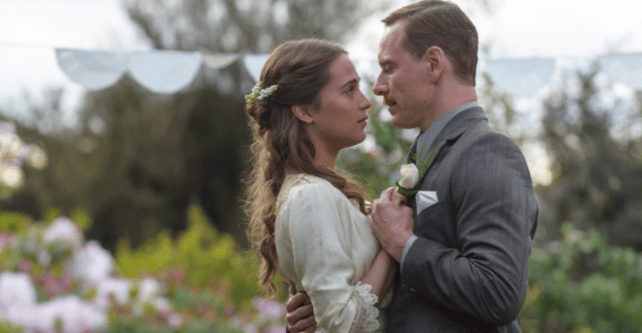 Alicia Vikander and Michael Fassbender in The Light Between Oceans (2016)