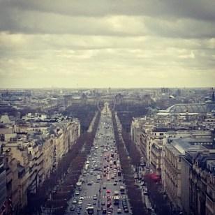 Vue de l'Arc de Triomphe !