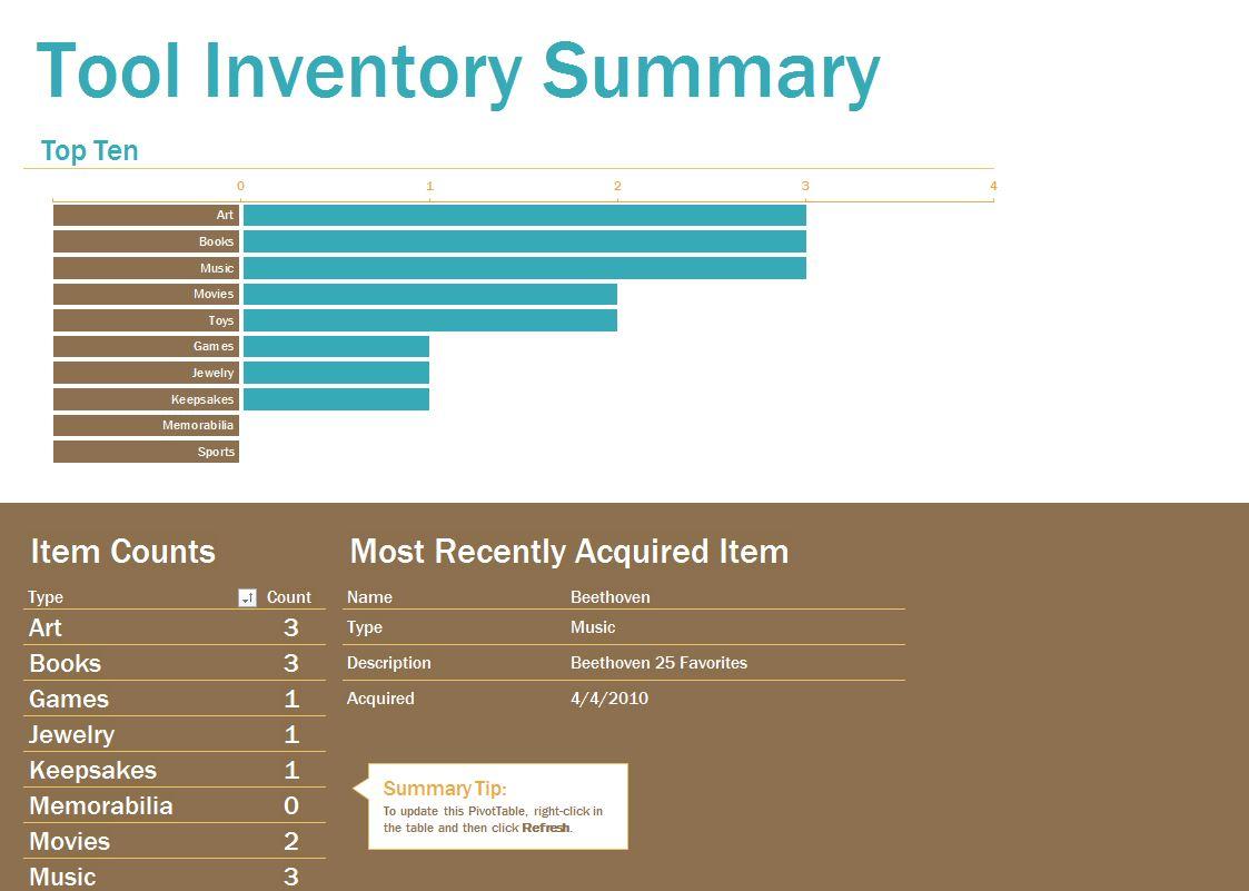 Tool Inventory Sheet