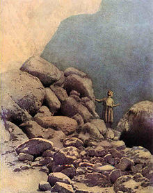 Sindbad the Sailor and the valley of the Diamonds by Maxfield Parrish