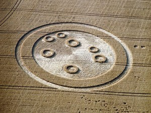 Froxfield, England, crop circle of the seven sisters.