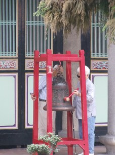 Old couple ring the bell