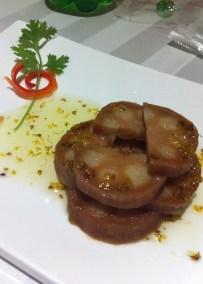西子藕韵, rice stuffed lotus root in sweet flower sauce