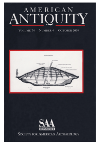 Image of the cover of American Antiquity volume 74 issue 4 (October 2009)