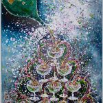 Charlotte_Olsson_Art_champagne_painting_swedishartist_bubbles_fun_love_upcyclingart