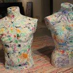 """Hers & His"" sculpture"
