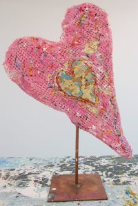 love heart sculptures